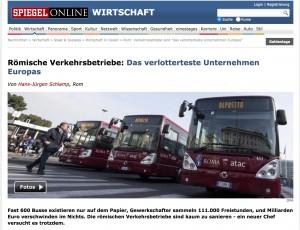 Atac Roma, Spiegel: la peggior società di trasporti in Europa