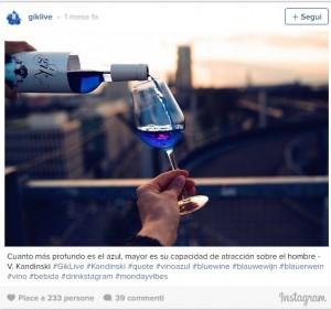 Vino blu, l'invenzione dell'azienda spagnola Gik4