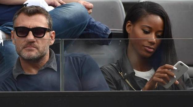 Bobo Vieri e la fidanzata Jazzma Kendrick (foto Ansa)