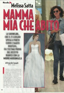 Melissa Satta, prove abito prima del matrimonio con Boateng