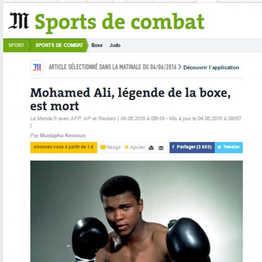 Muhammad Ali, sua morte sui giornali del mondo2