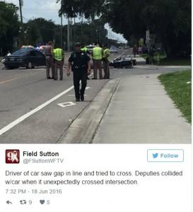 Prova a sfondare con auto corteo funebre vittima Orlando5