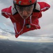 Roberta Mancino modella estrema, volo con tuta alare sul vulcano8