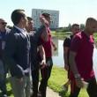 Ronaldo nervoso, lancia il microfono nel lago5
