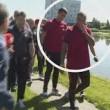 Ronaldo nervoso, lancia il microfono nel lago4