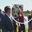 Ronaldo nervoso, lancia il microfono nel lago2