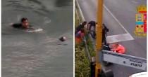YOUTUBE Si getta da ponte a 22 anni: poliziotti la salvano