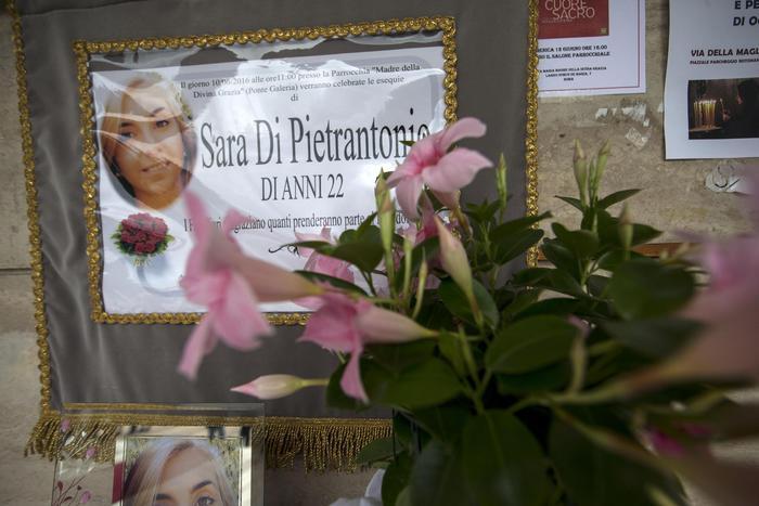 Sara Di Pietrantonio, funerali a Roma5