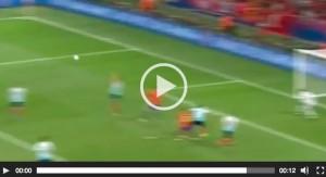 Alvaro Morata VIDEO gol Spagna-Turchia 2-0