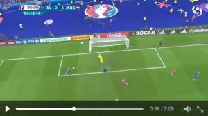 VIDEO, Islanda-Austria 2-1: telecronista impazzisce