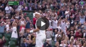 VIDEO favola Willis, ko con Federer ma felice: suo il pallonetto dell'anno