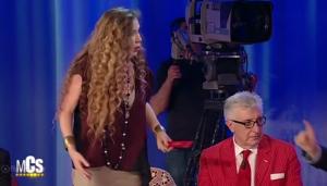 Maurizio Costanzo vs Eleonora Brigliadori. Lei lascia show