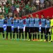 Suonano l'inno del Cile in campo c'è l'Uruguay