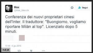 "Inter - Suning, gaffe traduttore: ""Porteremo Milan al top"""
