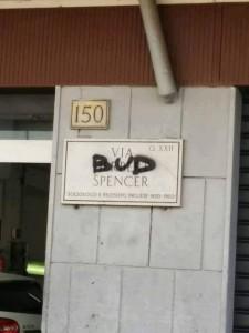 """Guarda la versione ingrandita di Bud Spencer morto, a Roma gli """"intitolano"""" una via ma…"""