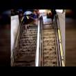 Washington, scala stazione metro diventa una cascata
