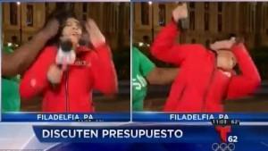 OUTUBE pugno in faccia a giornalista durante diretta6