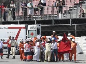 VIDEO YOUTUBE Moto2, Luis Salom incidente a Montmelò: grave