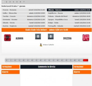 Albania-Svizzera, diretta live Sportal Euro 2016 su Blitz