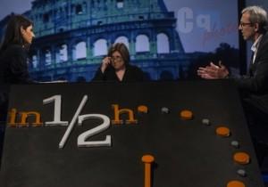 Guarda la versione ingrandita di Renzi e Lucia (Annunziata). Se la Rai tornasse a fare tribuna politica