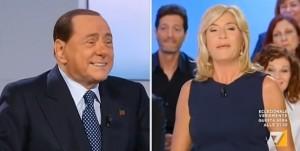 """Berlusconi a L'Aria che tira: """"Non mi sposo"""" VIDEO"""