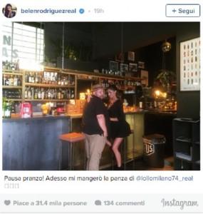 Guarda la versione ingrandita di Belen Instagram, FOTO con illusione ottica a luci rosse