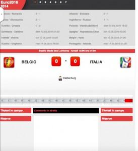 Belgio-Italia: diretta live Euro 2016 su Blitz con Sportal