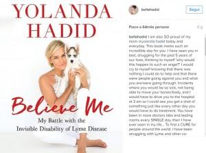 Guarda la versione ingrandita di Bella Hadid ha malattia di Lyme come la madre. Le scrive…