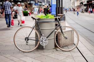 Mestre, rimosse biciclette parcheggiate sui marciapiedi