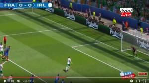 Guarda la versione ingrandita di Brady VIDEO gol rigore Francia-Irlanda 0-1: Pogba fallo