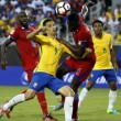 YOUTUBE Coppa America, Brasile-Haiti 7-1, highlights gol