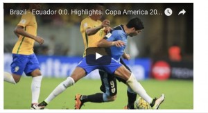 Brasile-Ecuador 0-0: highlights Coppa America 2016