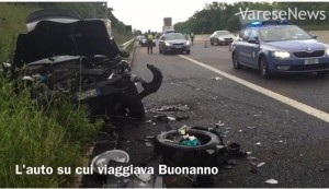Gianluca Buonanno morto, VIDEO incidente