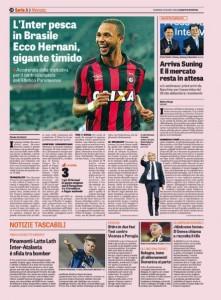 Calciomercato Inter, Hernani Azevedo Junior: colpo dal Brasile