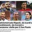 Calciomercato Napoli, via Higuain? Icardi, Ibra, Cavani o Benzema? Toto-attaccante
