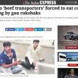 India. Trasportavano carne di mucca: costretti a mangiarne le feci