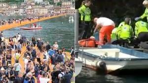 Floating Piers, morta turista caduta da passerella Christo su lago