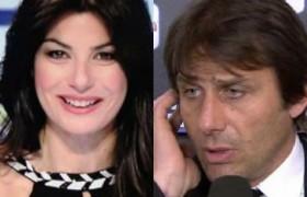 """Antonio Conte a Ilaria D'Amico: """"Posso dire Forza Italia?"""""""