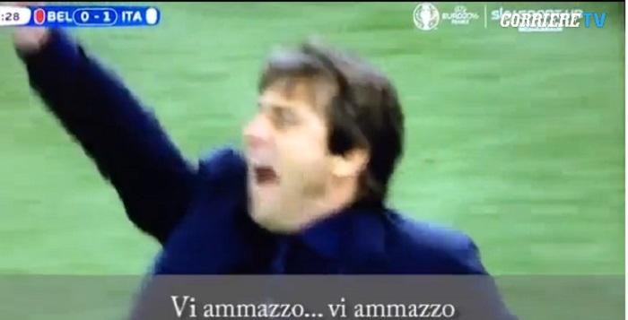 """Antonio Conte urla ai giocatori: """"Vi ammazzo tutti"""" VIDEO"""