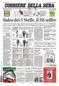 Guarda la versione ingrandita di Elezioni, M5s, Matteo Renzi: le prime pagine dei giornali