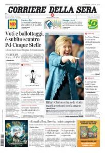 Guarda la versione ingrandita di Ballottaggi, Pd, M5s: le prime pagine dei giornali