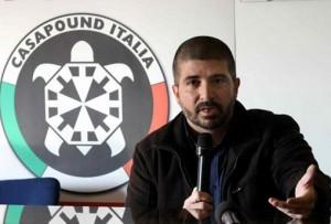 Di Stefano, Casapound: candidato sindaco rubò...bandiera Ue