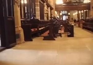 """YOUTUBE Fantasma nella cattedrale. L'urlo: """"Sono qui"""""""