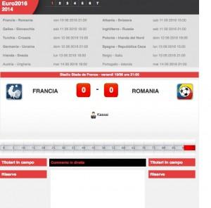 Francia-Romania diretta live Euro 2016 su Blitz