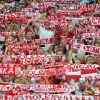 Medici soccorrono un tifoso polacco EPA/GEORGI LICOVSKI