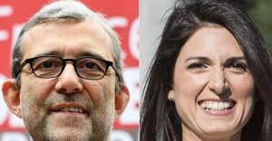 Roberto Giachetti e Virginia Raggi
