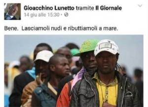 Gioacchino Lunetto, poliziotto trasferito: insultò migranti su Facebookjì