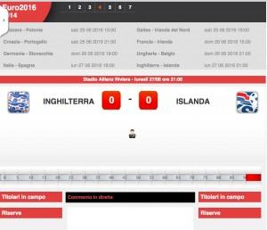 Guarda la versione ingrandita di Inghilterra-Islanda: diretta live ottavi Euro 2016 su Blitz con Sportal