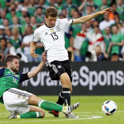 Irlanda del Nord-Germania 0-1. Video gol highlights, foto