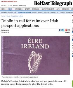 Guarda la versione ingrandita di Brexit, corsa al passaporto irlandese per restare cittadini europei